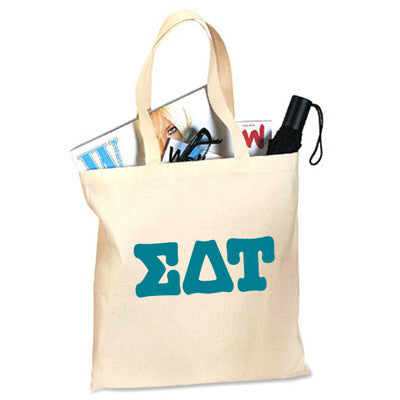 Sorority Printed Lettered Budget Tote - 825 - CAD