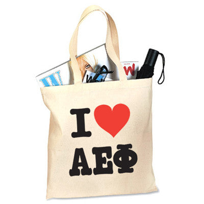 Sorority I Love Printed Budget Tote - 825 - CAD