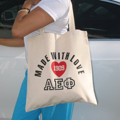 Made With Love Printed Sorority Tote - 825 - CAD