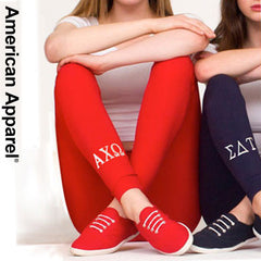 American Apparel Sorority Leggings with Embroidery - American Apprel 8328 - EMB
