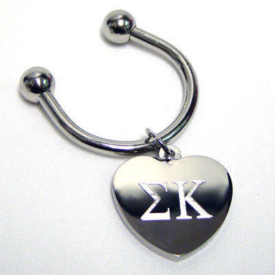 Sorority Key Ring - Heart - McCartney mc835-G101