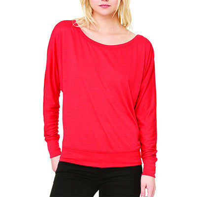 Sorority Off-The-Shoulder Love My Big or Lil Shirt - Bella 8850 - CAD