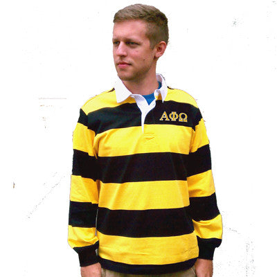 Fraternity and Sorority Rugby Shirt - Charles River 9278 - EMB
