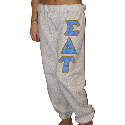 Sigma Delta Tau Sorority Sweatpants - Jerzees 973 - TWILL