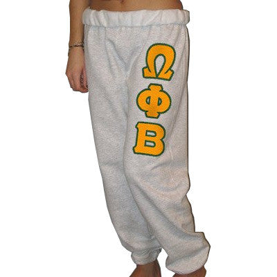 Omega Phi Beta Sorority Sweatpants - Jerzees 973 - TWILL