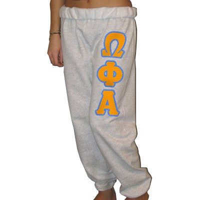 Omega Phi Alpha Sorority Sweatpants - Jerzees 973 - TWILL