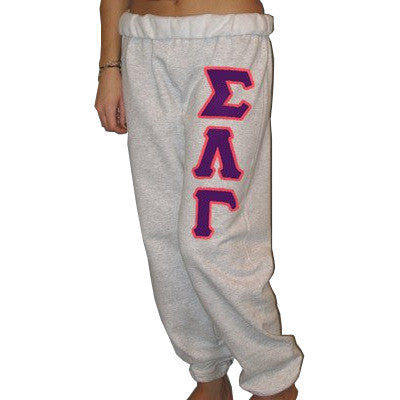 Sigma Lambda Gamma Sorority Sweatpants - Jerzees 973 - TWILL