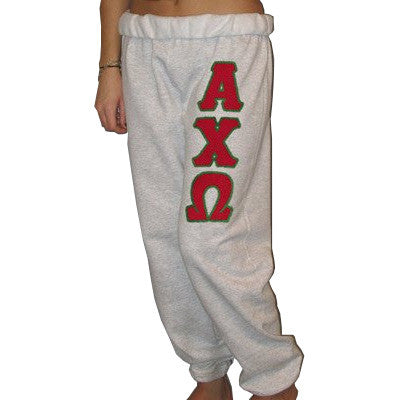 Alpha Chi Omega Sorority Sweatpants - Jerzees 973 - TWILL