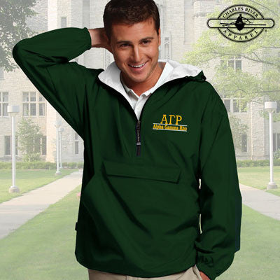 Alpha Gamma Rho Embroidered Bar Design Pullover Jacket - Charles River 9905 - EMB