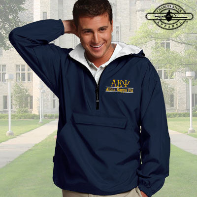 Alpha Kappa Psi Embroidered Pullover Jacket - Charles River 9905 - EMB
