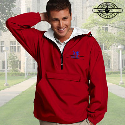 Chi Phi Embroidered Pullover Jacket - Charles River 9905 - EMB
