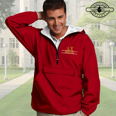 Delta Chi Embroidered Pullover Jacket - Charles River 9905 - EMB