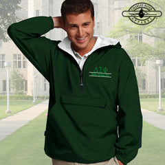 Delta Sigma Phi Embroidered Pullover Jacket - Charles River 9905 - EMB