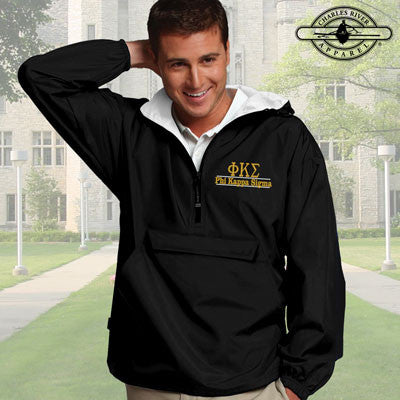 Phi Kappa Sigma Embroidered Pullover Jacket - Charles River 9905 - EMB