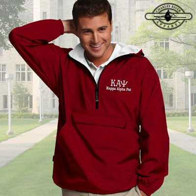 Kappa Alpha Psi Embroidered Bar Design Pullover Jacket - Charles River 9905 - EMB
