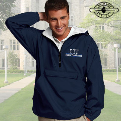 Sigma Tau Gamma Embroidered Pullover Jacket - Charles River 9905 - EMB