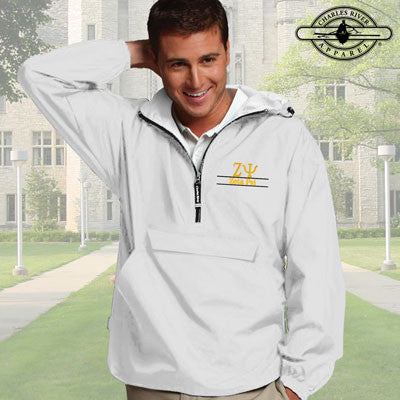 Zeta Psi Embroidered Pullover Jacket - Charles River 9905 - EMB