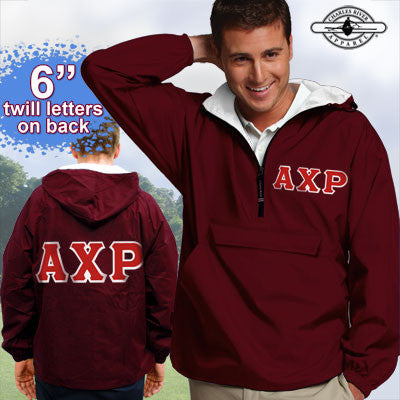 Alpha Chi Rho Pullover Jacket - Charles River 9905 - TWILL