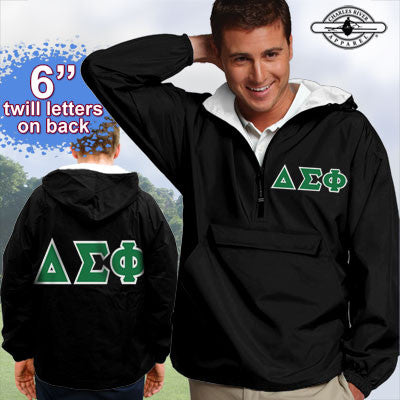 Delta Sigma Phi Pullover Jacket - Charles River 9905 - TWILL