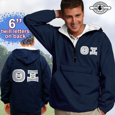 Theta Xi Pullover Jacket - Charles River 9905 - TWILL