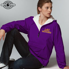 Delta Phi Epsilon Embroidered Bar Design Pullover Jacket - Charles River 9905 - EMB