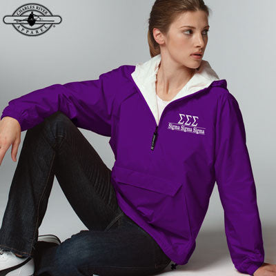 Sigma Sigma Sigma Embroidered Pullover Jacket - Charles River 9905 - EMB