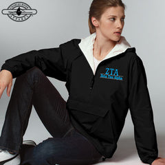 Zeta Tau Alpha Embroidered Pullover Jacket - Charles River 9905 - EMB
