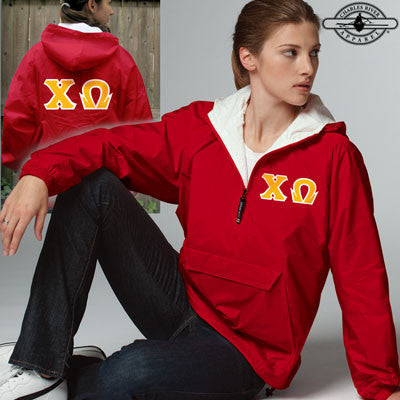 Chi Omega Pullover Jacket - Charles River 9905 - TWILL