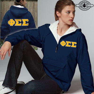 Phi Sigma Sigma Pullover Jacket - Charles River 9905 - TWILL