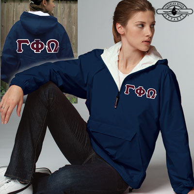 Gamma Phi Omega Pullover Jacket - Charles River 9905 - TWILL
