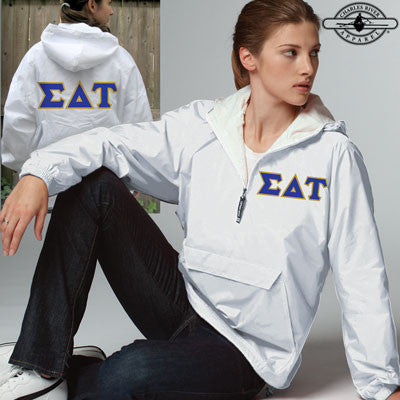 Sigma Delta Tau Pullover Jacket - Charles River 9905 - TWILL