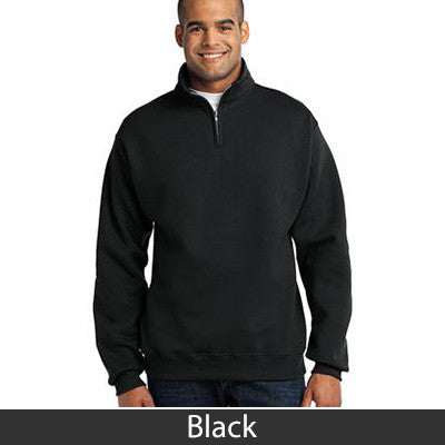 Alpha Phi Delta Fraternity Embroidered Quarter-Zip Pullover - Jerzees 995M - EMB