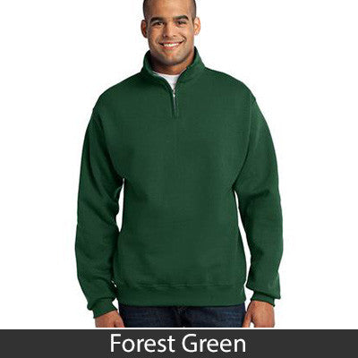 Delta Sigma Phi Fraternity Embroidered Quarter-Zip Pullover - Jerzees 995M - EMB