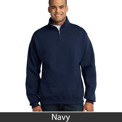 Zeta Psi Fraternity Embroidered Quarter-Zip Pullover - Jerzees 995M - EMB