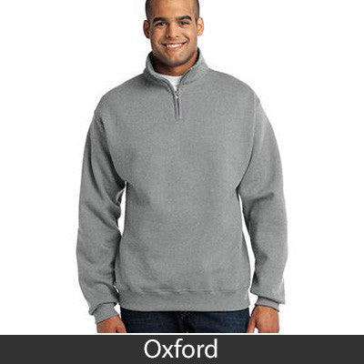 Delta Upsilon Fraternity Embroidered Quarter-Zip Pullover - Jerzees 995M - EMB
