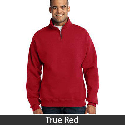 Theta Tau Fraternity Embroidered Quarter-Zip Pullover - Jerzees 995M - EMB