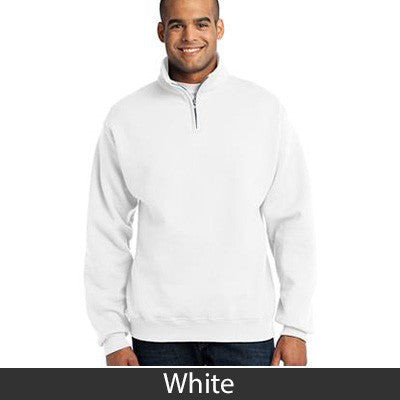 Sigma Nu Fraternity Embroidered Quarter-Zip Pullover - Jerzees 995M - EMB