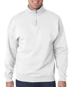 Sorority Quarter-Zip with Sewn-On Letters - Jerzees 995M - TWILL