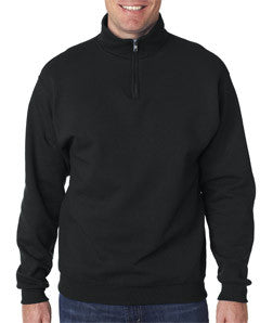 Fraternity Quarter-Zip with Sewn-On Letters - Jerzees 995M - TWILL