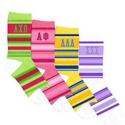 Sorority Crew Show Socks - a3007