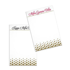 Sorority Gold Notepad - a3009