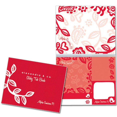 Alpha Omicron Pi Sticky Tab Book - Alexandra Co. a1031