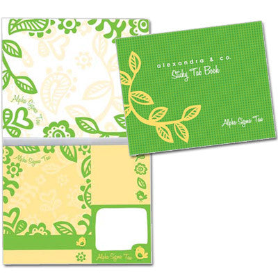 Alpha Sigma Tau Sticky Tab Book - Alexandra Co. a1031