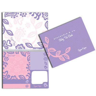Sigma Kappa Sticky Tab Book - Alexandra Co. a1031