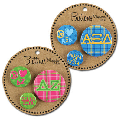 Sorority Buttons - Alexandra Co. a1055