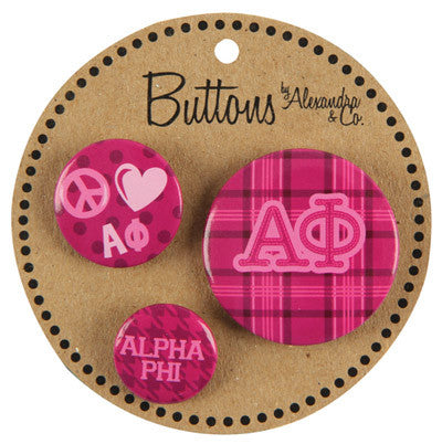 Alpha Phi Sorority Buttons - Alexandra Co. a1055