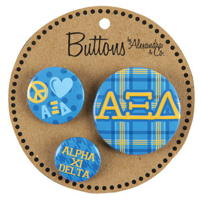 Alpha Xi Delta Sorority Buttons - Alexandra Co. a1055