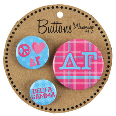 Delta Gamma Sorority Buttons - Alexandra Co. a1055