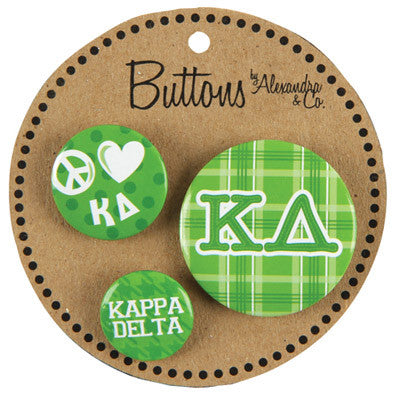 Kappa Delta Sorority Buttons - Alexandra Co. a1055