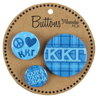 Kappa Kappa Gamma Sorority Buttons - Alexandra Co. a1055